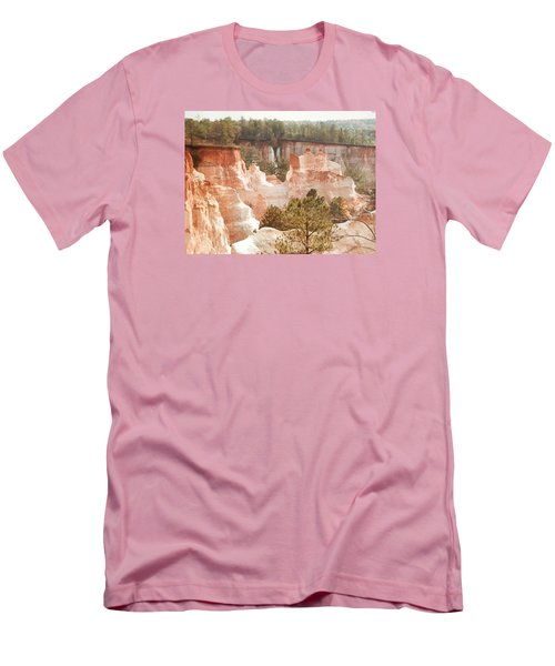 Men's T-Shirt (Slim Fit) featuring the photograph Colorful Georgia Canyon Wonder by Belinda Lee