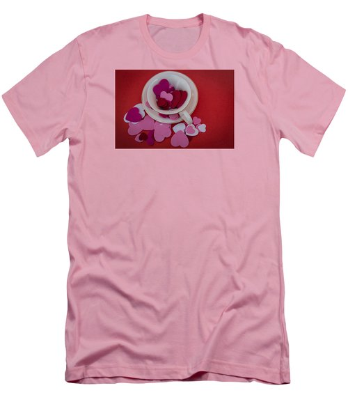 Men's T-Shirt (Slim Fit) featuring the photograph Cup Full Of Love by Patrice Zinck