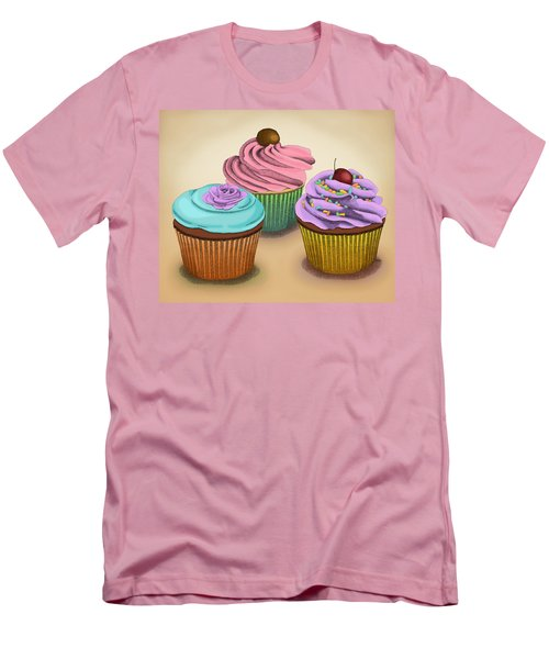 Cupcakes Men's T-Shirt (Slim Fit) by Meg Shearer