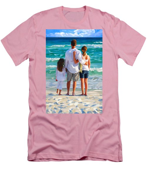 Dad And His Girls Men's T-Shirt (Slim Fit)