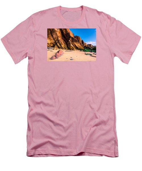Dinosaur Tail Men's T-Shirt (Athletic Fit)