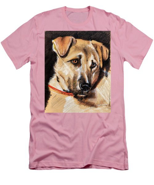 Dog Portrait Drawing Men's T-Shirt (Athletic Fit)