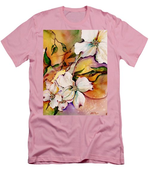 Dogwood In Spring Colors Men's T-Shirt (Slim Fit) by Lil Taylor