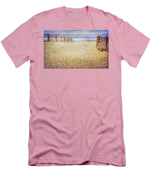 Men's T-Shirt (Slim Fit) featuring the photograph Down The Shore by Debra Fedchin