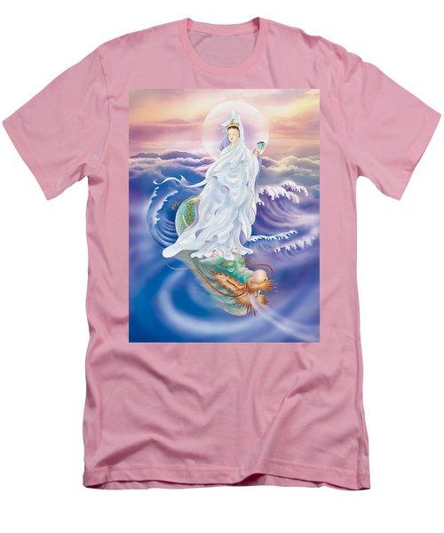 Dragon-riding Avalokitesvara  Men's T-Shirt (Slim Fit) by Lanjee Chee