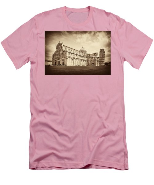 Men's T-Shirt (Slim Fit) featuring the photograph Duomo And Tower by Hugh Smith