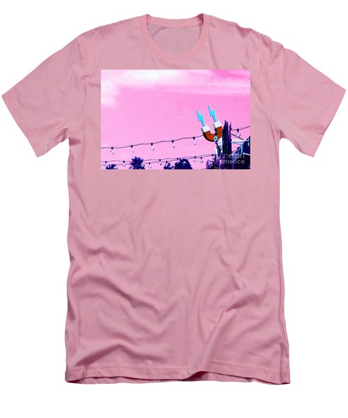 Electric Pink Men's T-Shirt (Slim Fit) by Valerie Reeves
