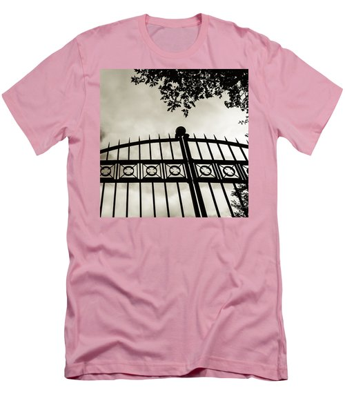 Men's T-Shirt (Slim Fit) featuring the photograph Entrances To Exits - Gates by Steven Milner