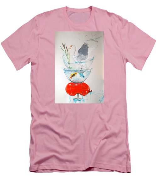 Men's T-Shirt (Slim Fit) featuring the painting Equilibrium by Lazaro Hurtado