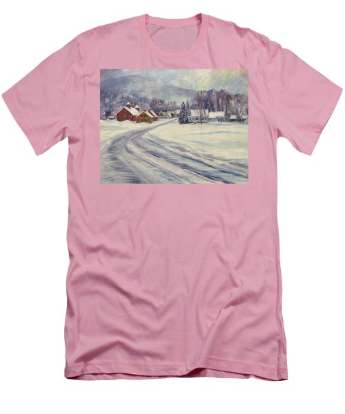Felchville Village In The Snow Men's T-Shirt (Athletic Fit)