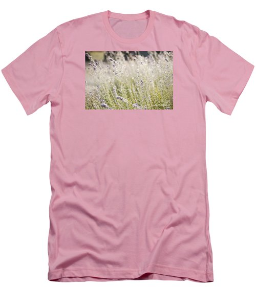 Field Of Lavender At Clos Lachance Vineyard In Morgan Hill Ca Men's T-Shirt (Athletic Fit)