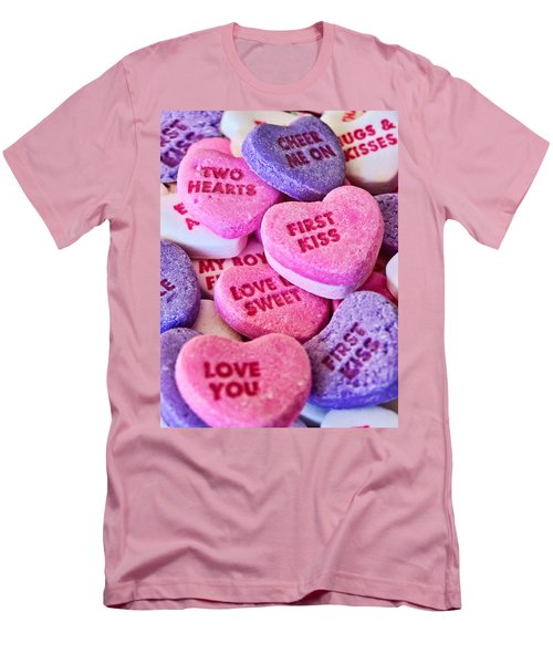 Men's T-Shirt (Slim Fit) featuring the photograph Valentines Day by Vizual Studio