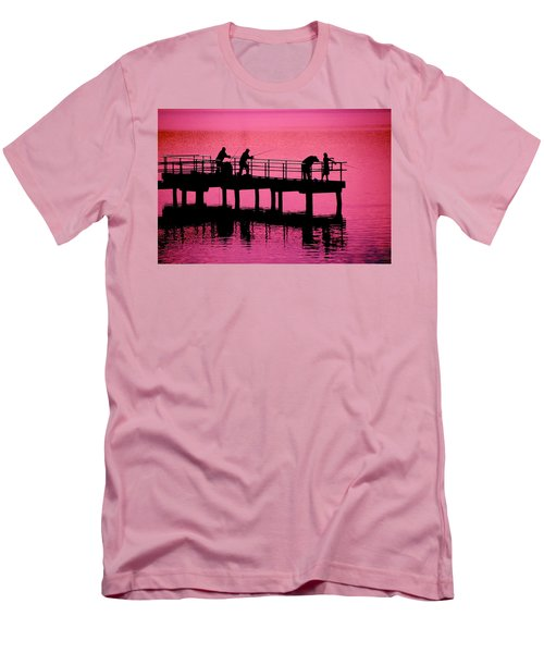 Fishermen Men's T-Shirt (Slim Fit) by Raymond Salani III