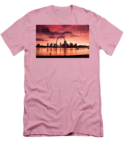 Fishing The Mississippi In St Louis Men's T-Shirt (Athletic Fit)