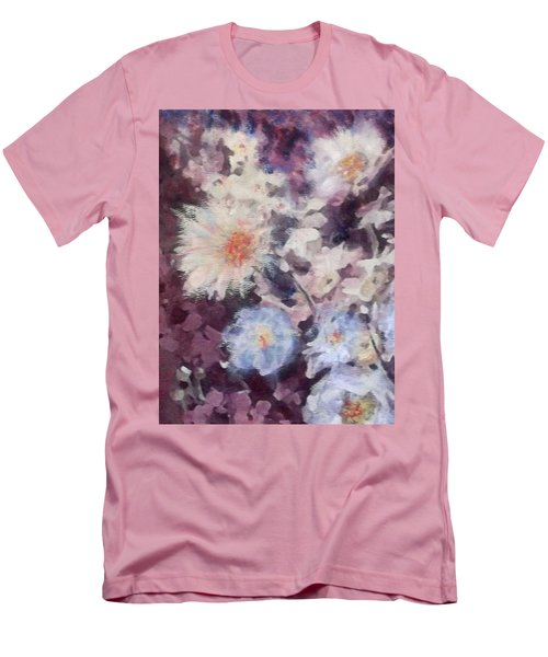 Men's T-Shirt (Slim Fit) featuring the painting Flower  Burst by Richard James Digance