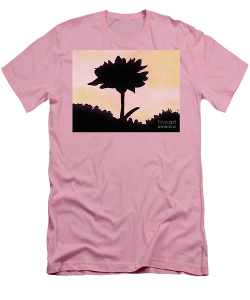 Men's T-Shirt (Slim Fit) featuring the drawing Flower - Sunrise by D Hackett