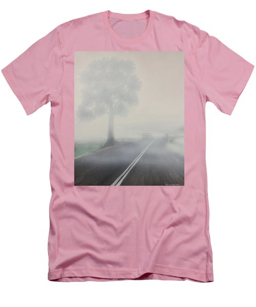 Foggy Road Men's T-Shirt (Athletic Fit)