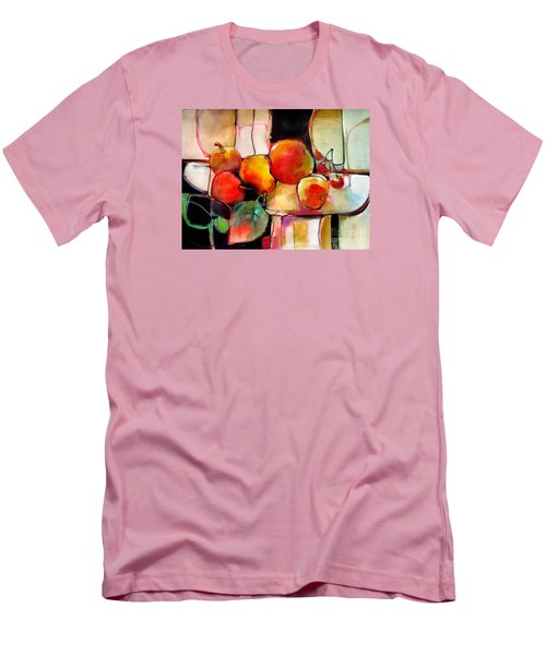 Men's T-Shirt (Slim Fit) featuring the painting Fruit On A Dish by Michelle Abrams