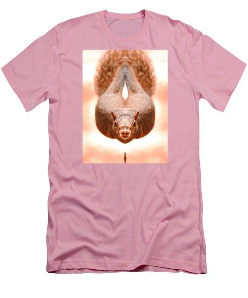 Flying Funky Brown Squirrel Men's T-Shirt (Slim Fit) by Belinda Lee