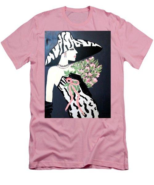 Girl That Loves Pink  Art Deco Men's T-Shirt (Athletic Fit)