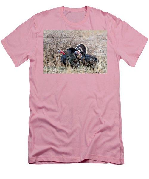 Gobbling Turkeys Men's T-Shirt (Slim Fit)