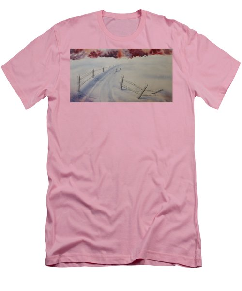 Men's T-Shirt (Slim Fit) featuring the painting Going Home by Richard Faulkner