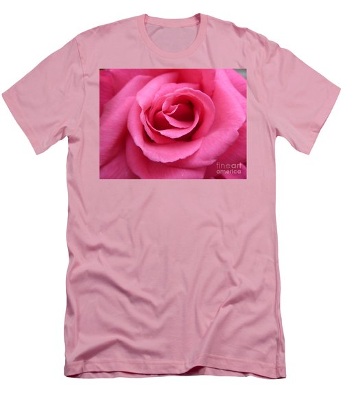Men's T-Shirt (Slim Fit) featuring the photograph Gorgeous Pink Rose by Vicki Spindler