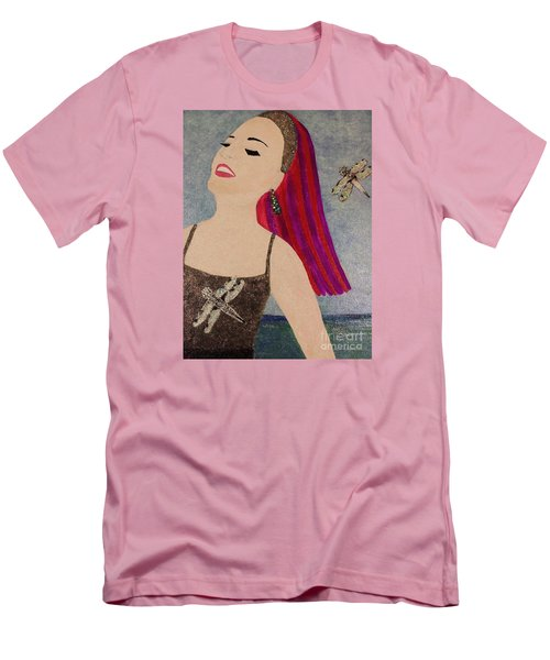 Men's T-Shirt (Slim Fit) featuring the painting Happy Face by Jasna Gopic