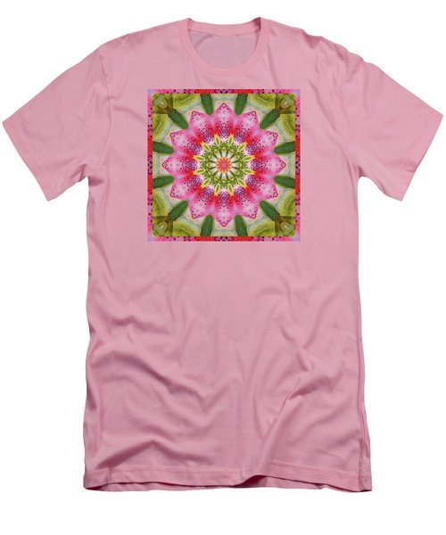 Men's T-Shirt (Slim Fit) featuring the photograph Healing Mandala 25 by Bell And Todd