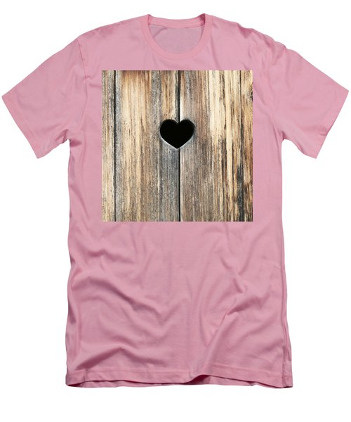 Men's T-Shirt (Slim Fit) featuring the photograph Heart In Wood by Brooke T Ryan