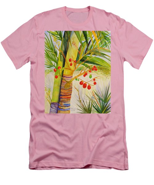 Holiday Palm Men's T-Shirt (Athletic Fit)
