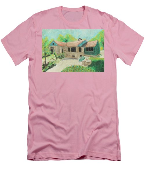 Men's T-Shirt (Slim Fit) featuring the painting Home Sweet Home by Jeanne Fischer