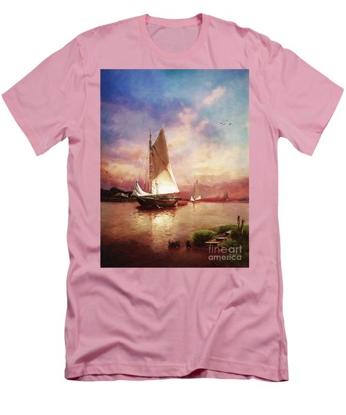 Home To The Harbor Men's T-Shirt (Athletic Fit)