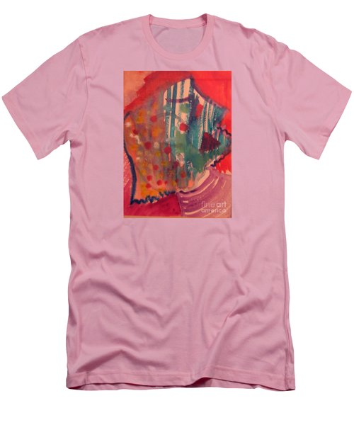 How Much I Loved You Original Contemporary Modern Abstract Art Painting Men's T-Shirt (Slim Fit) by RjFxx at beautifullart com
