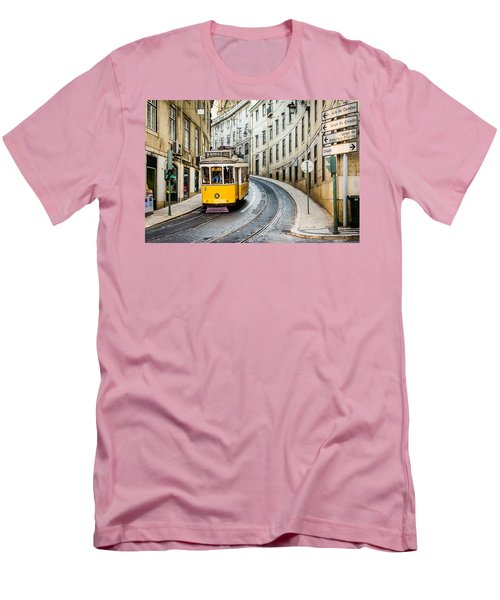 Iconic Lisbon Streetcar No. 28 IIi Men's T-Shirt (Athletic Fit)