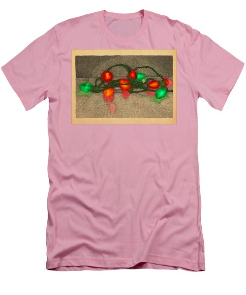 Men's T-Shirt (Slim Fit) featuring the drawing Illumination Variation #5 by Meg Shearer