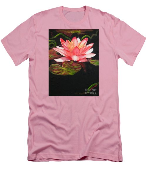 In Full Bloom Men's T-Shirt (Slim Fit) by Janet McDonald