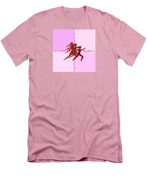 Men's T-Shirt (Slim Fit) featuring the digital art In The Pink by Mary Armstrong