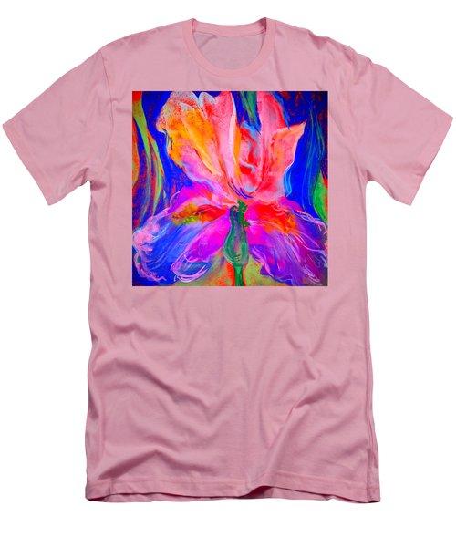 Funky Iris Flower Men's T-Shirt (Athletic Fit)