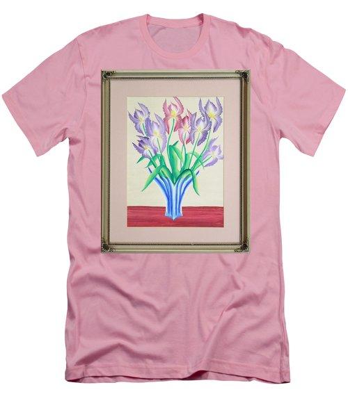 Irises Men's T-Shirt (Slim Fit) by Ron Davidson