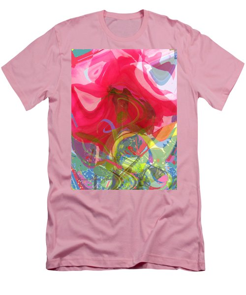 Men's T-Shirt (Slim Fit) featuring the photograph Just A Wild And Crazy Rose by Brooks Garten Hauschild