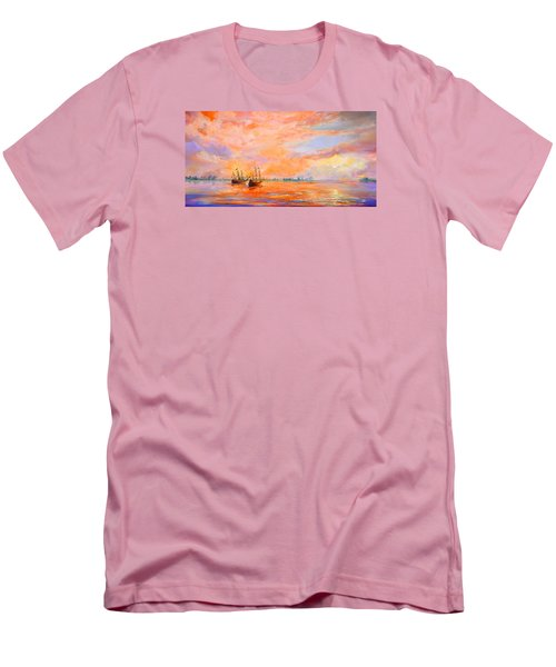 Men's T-Shirt (Slim Fit) featuring the painting La Florida by AnnaJo Vahle