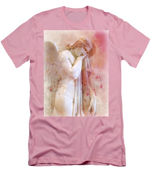 Men's T-Shirt (Slim Fit) featuring the photograph L'angelo Celeste by Micki Findlay