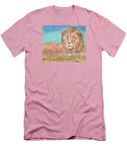 Lion Men's T-Shirt (Slim Fit) by David Jackson