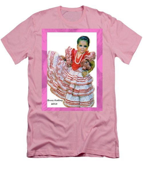 Men's T-Shirt (Slim Fit) featuring the painting Little Lidia by Bruce Nutting