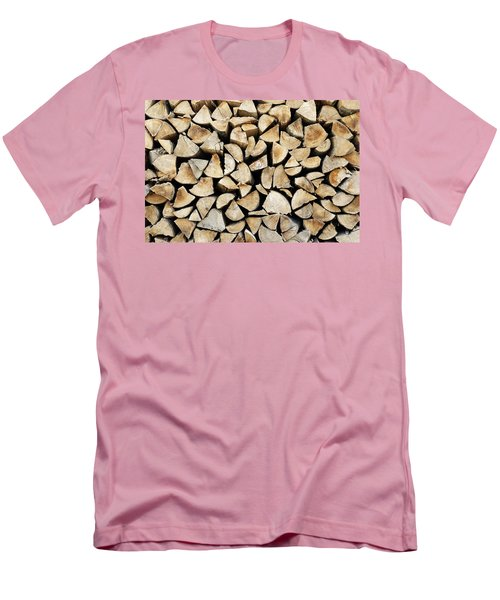 Logs Background Men's T-Shirt (Athletic Fit)