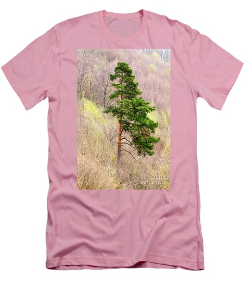 Men's T-Shirt (Slim Fit) featuring the photograph Lone Pine by Les Palenik