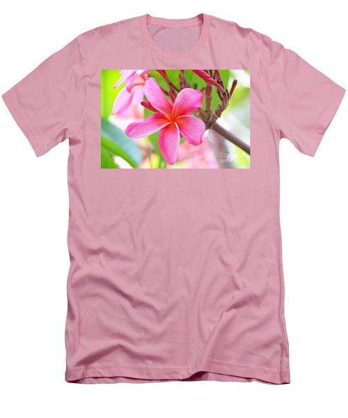 Men's T-Shirt (Slim Fit) featuring the photograph Lovely Plumeria by David Lawson