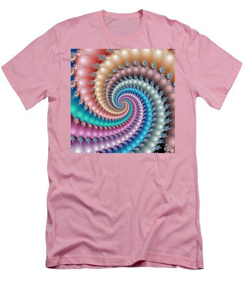 Mandelbrot Fractal Spyral Men's T-Shirt (Slim Fit) by Svetlana Nikolova
