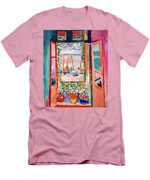 Matisse's Open Window At Collioure Men's T-Shirt (Slim Fit)